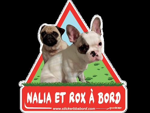 Nalia et Rox a bord