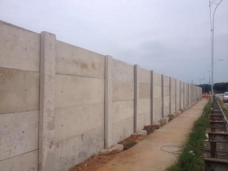 Ecovias - Construção de Muro Pré-Moldado (SP-160)