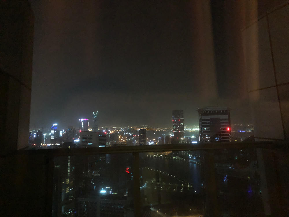 Breathtaking skyline view from the room