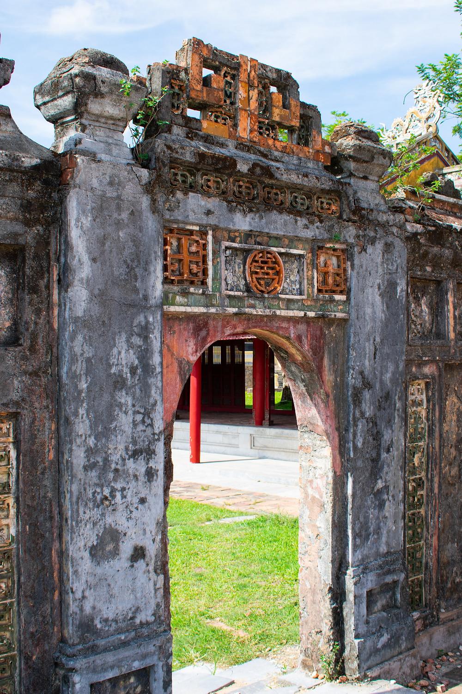 Gates to the entrance at Hue, Vietnam