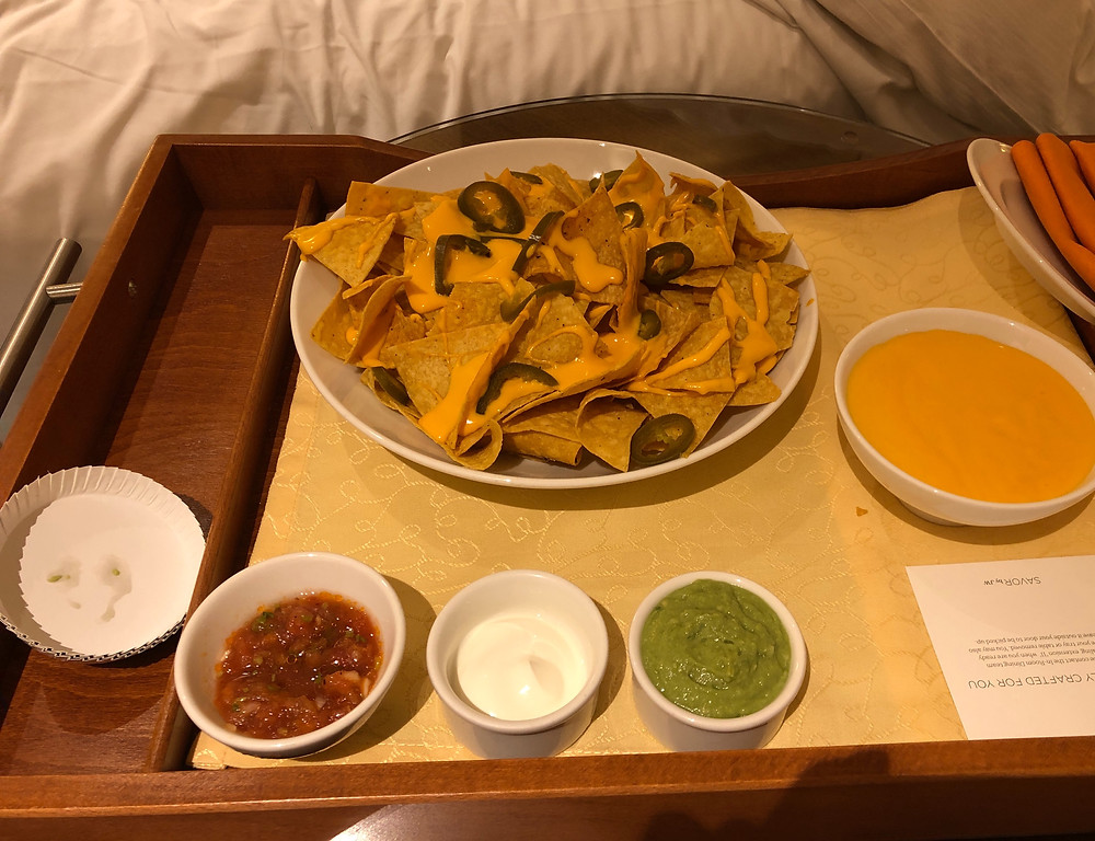 Cheese nachos at J W Marriot Marquis Dubai