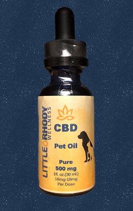 Pet Oil CBD Isolate Tincture 500mg