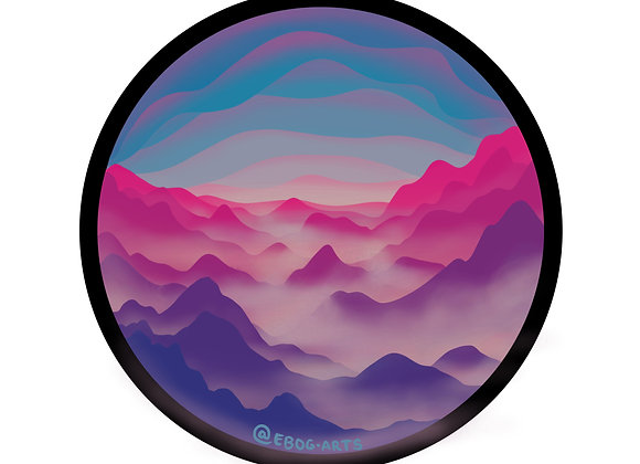 Soft Light Nature-scape Sticker 3.5 inch