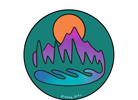 mountain Flow #2 Sticker 3.5 inch