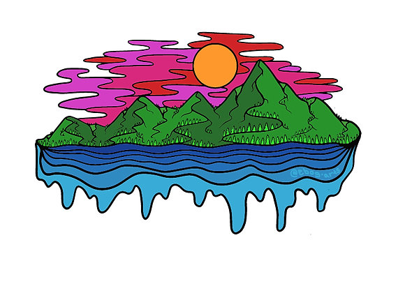 Juicy Sunset Sticker 3.5 inch