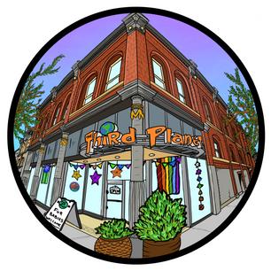 Third Planet Sticker Design