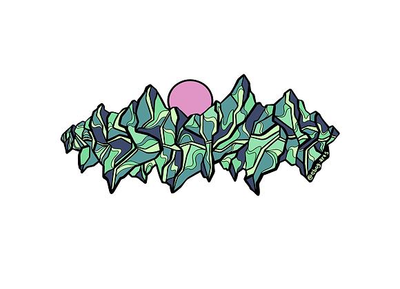 Mountain Wave Sticker 8 inch