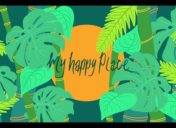My Happy Place Sticker 6 inch
