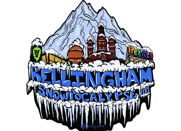 Bellingham Snopocalypse 2019 Sticker 3.5 inch