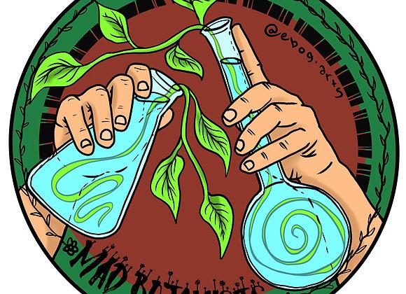 The Mad Botanist Sticker 3.5 inch