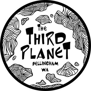 The Third Planet Stamp Design (White BG)