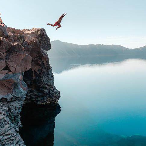 Crater Lake Plunge