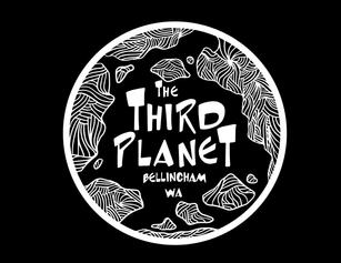 The Third Planet Stamp Design (Black BG)