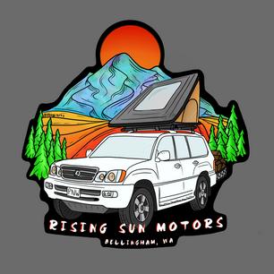 Rising Sun Motors Sticker Design