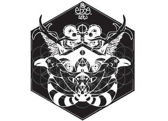 Animorphic Sticker 3.5 inch