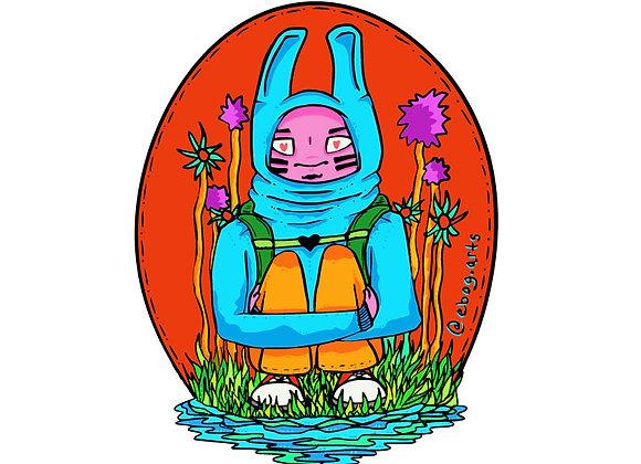 Mela The Traveller Sticker 3.5 inch