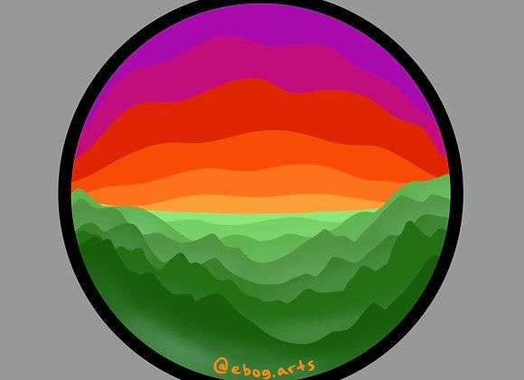 Sunrise Color Sticker 3.5 inch