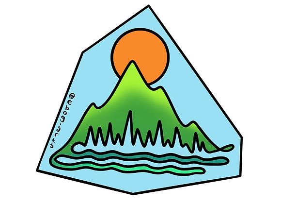 Mountain Flow #1 Sticker 3.5 inch