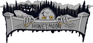 Honeymoon Horror Short Film Sticker Design