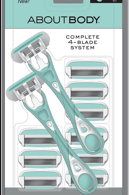 4-Blade Shaver System 9 cartridges