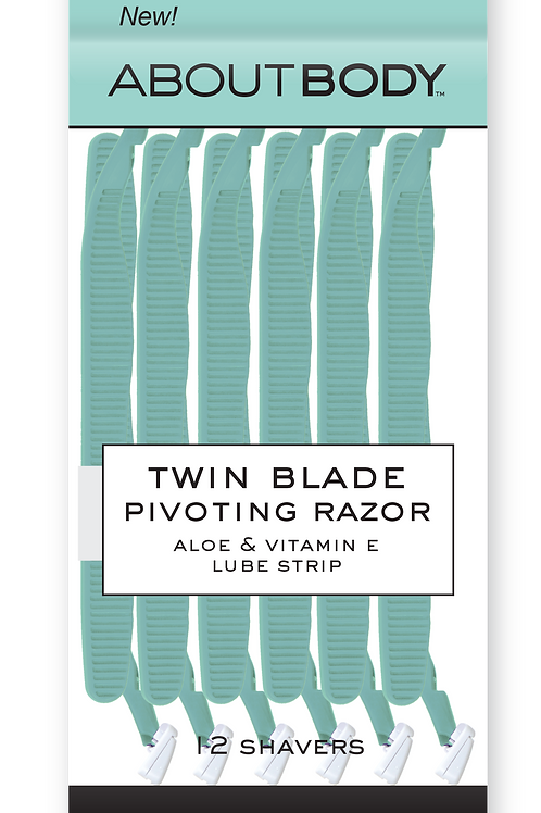 Twin blade shavers 12 pack