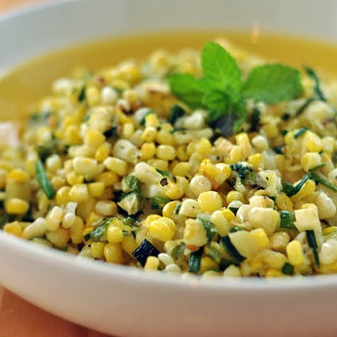 Fresh Corn and Zucchini Salad with Lime