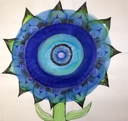 Medical flower, tusch, 35x40 cm, 2006