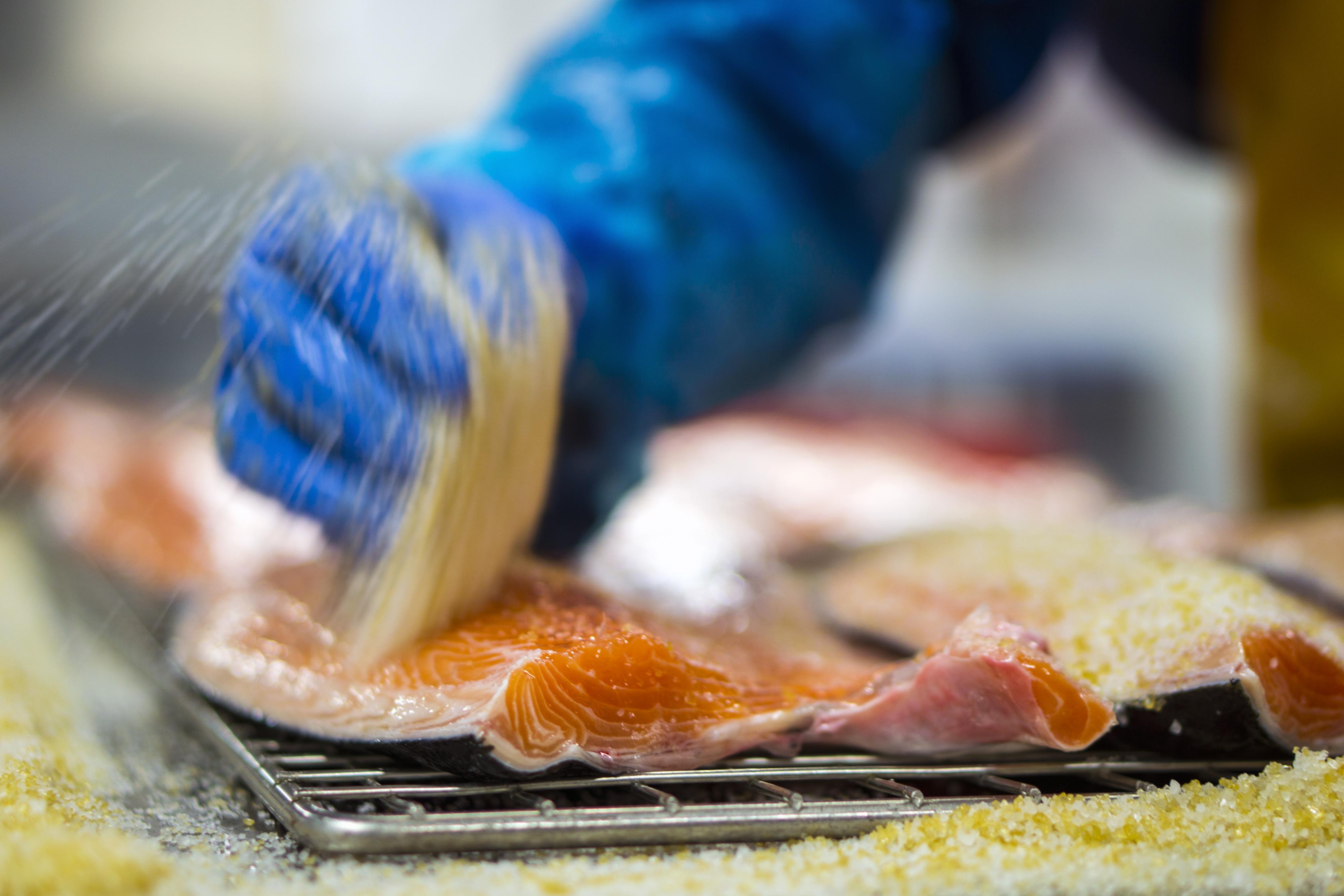 Préparer le saumon
