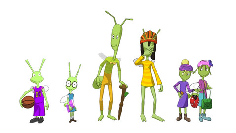 Could It Be a Walking Stick? - Character Lineup