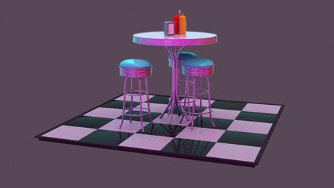 50s Diner Scene