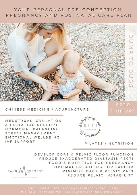 Pre-conception, pregnancy and post natal acupuncture