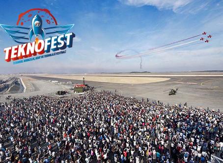 Teknofest 2019 festival alanı ve festival İKM tarafından görüntüleniyor