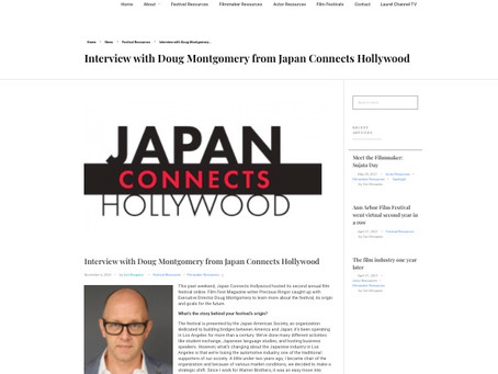 film festival magazine report on japan connects hollywood