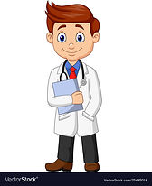 cartoon-male-doctor-holding-a-clipboard-