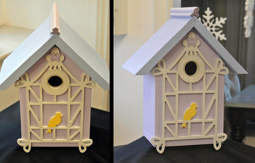 Victorian Yellow Bird Birdhouse