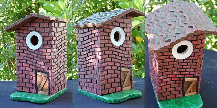 He Huffed and He Puffed Birdhouse