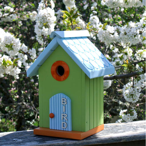 The Little Green Cottage Birdhouse