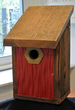 The Rustic Red Wave Birdhouse