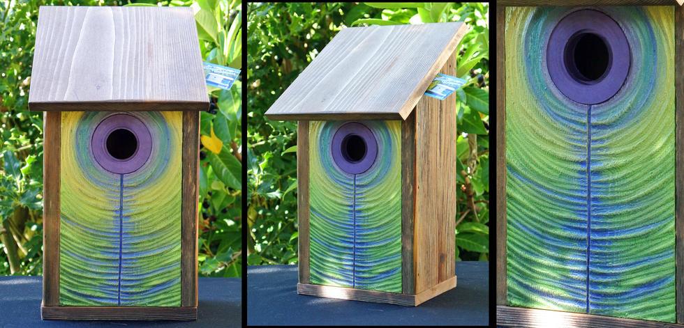 The Peacock Birdhouse