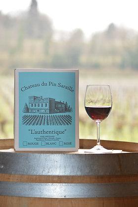 BIB Bag In Box Château du Pin Saraille l'Authentique 2020, Bordeaux Rouge