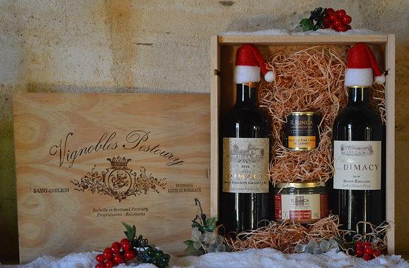 Assortiment vin et terrine : DIMACY Grand Cru 2016 et DIMACY 2019
