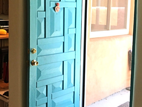 Fulfilling a vision through the blue door