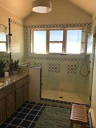 Upstairs master bathroom