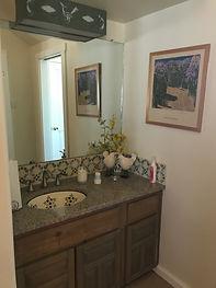 Private sink, master bedroom