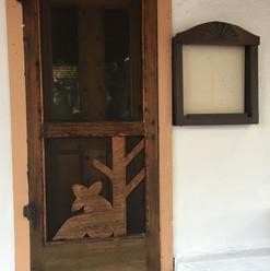 A screen door in Old Town