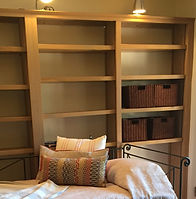 Bookshelves, downstairs bedroom