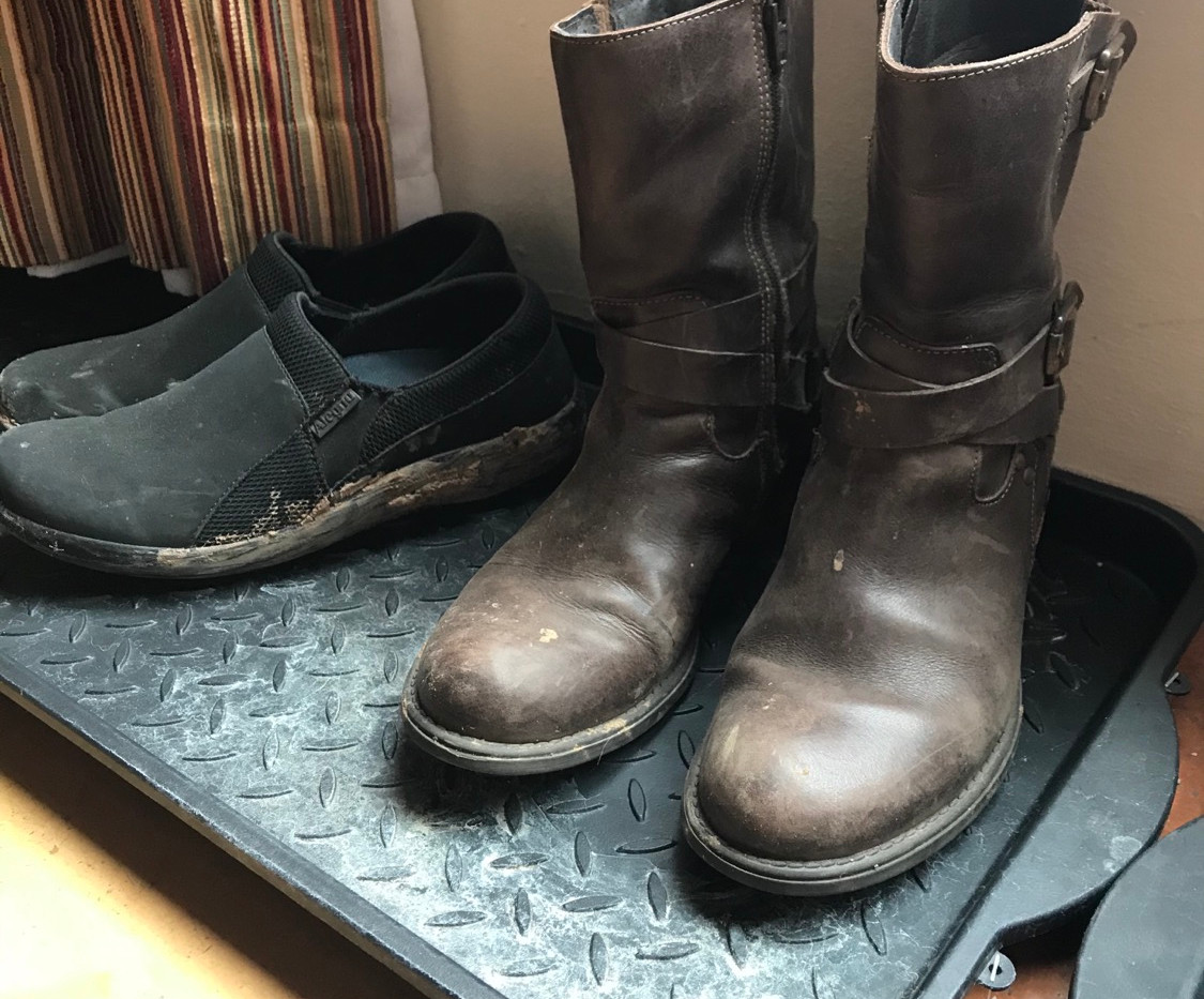 The owner's boots