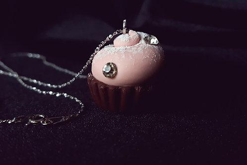 "Girocollo in argento con ciondolo ""cupcake"""