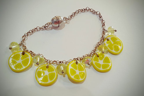 """Bracciale Artigianale """"Limone"""" in argento"""