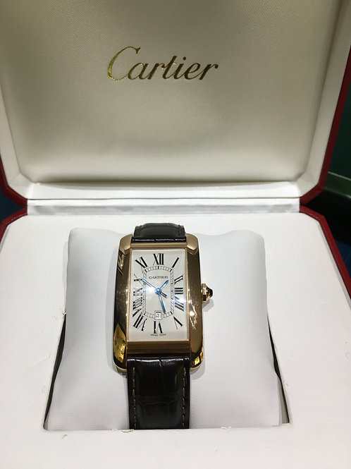 Cartier Tank Americaine oro rosa